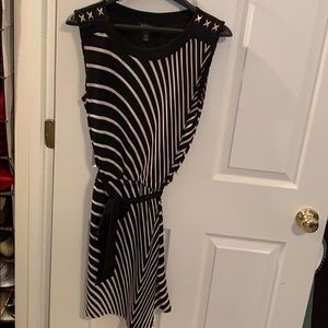 WHBM Sleeveless Cinched-Waist Dress - Size Small